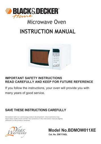microwave oven installation instructions