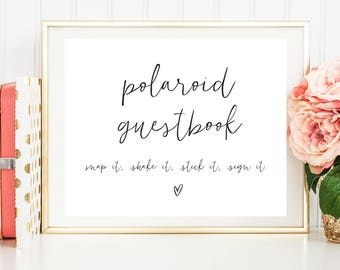 polaroid guest book instructions