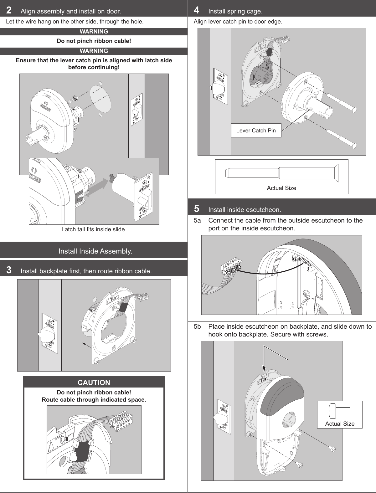 schlage magnetic lock installation instructions
