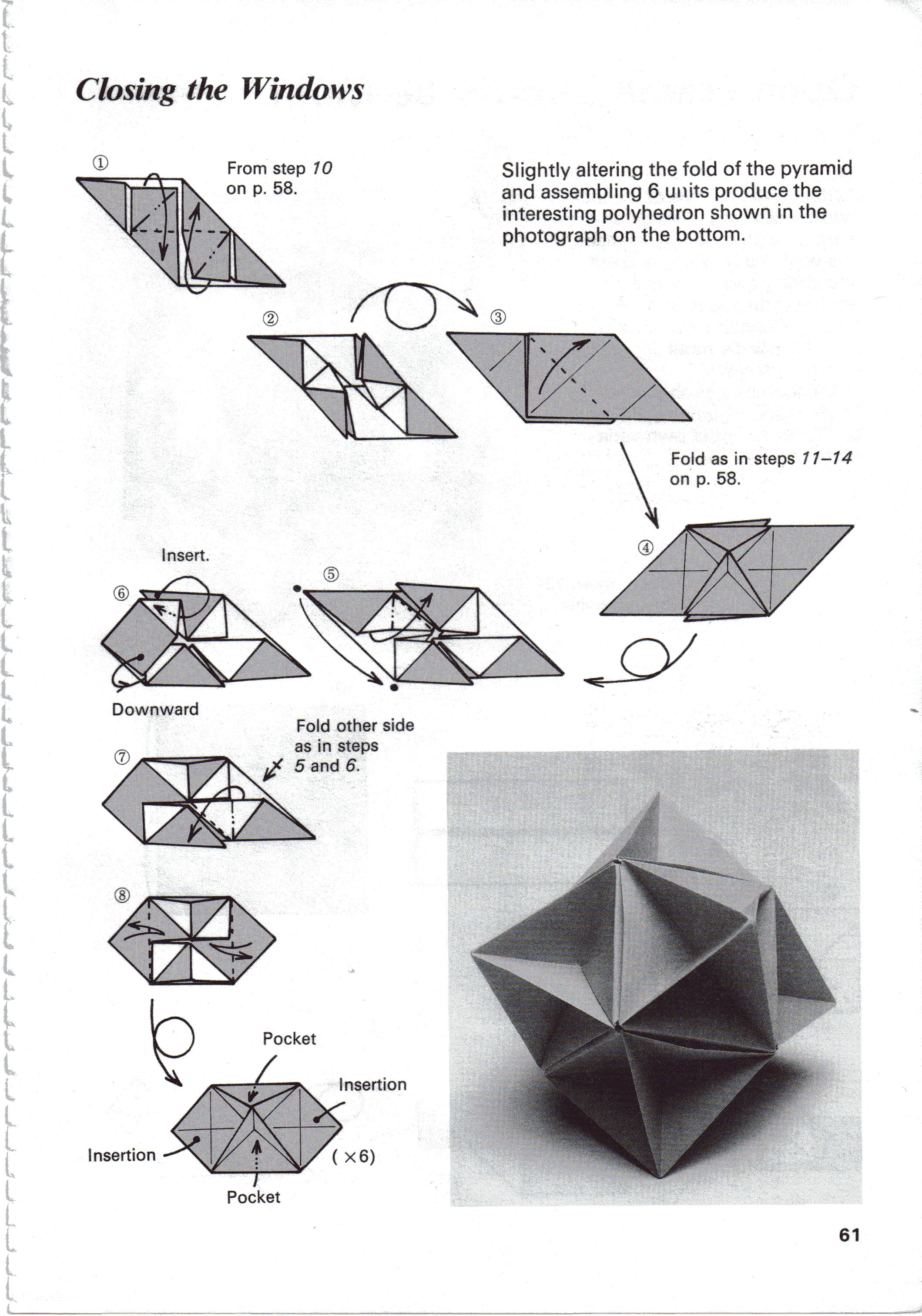 origami paper folding instructions