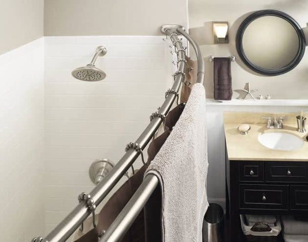 moen double curved shower rod installation instructions