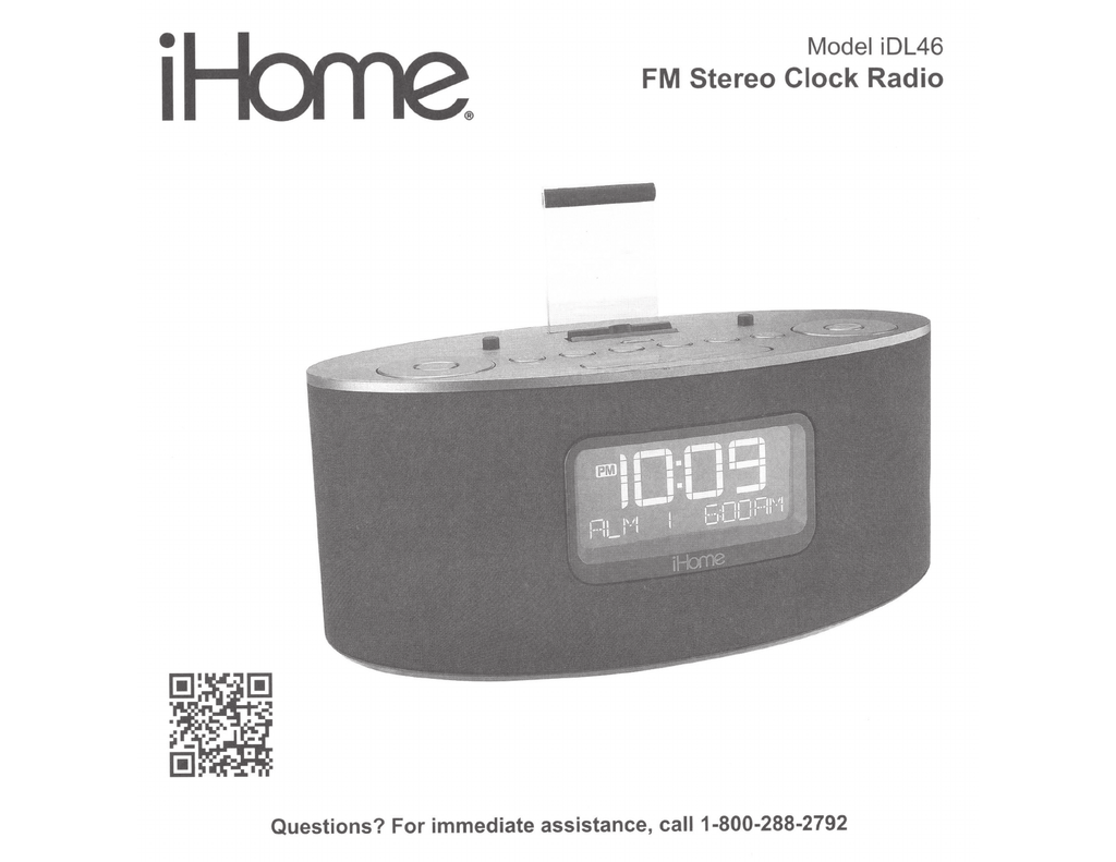 ihome instructions to set time