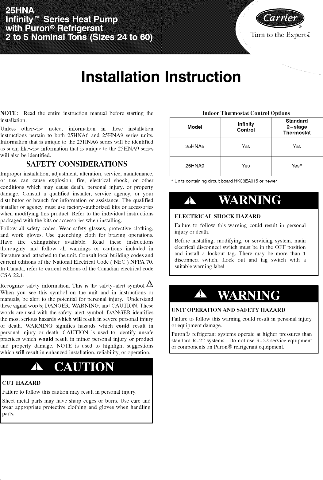 carrier infinity thermostat instructions