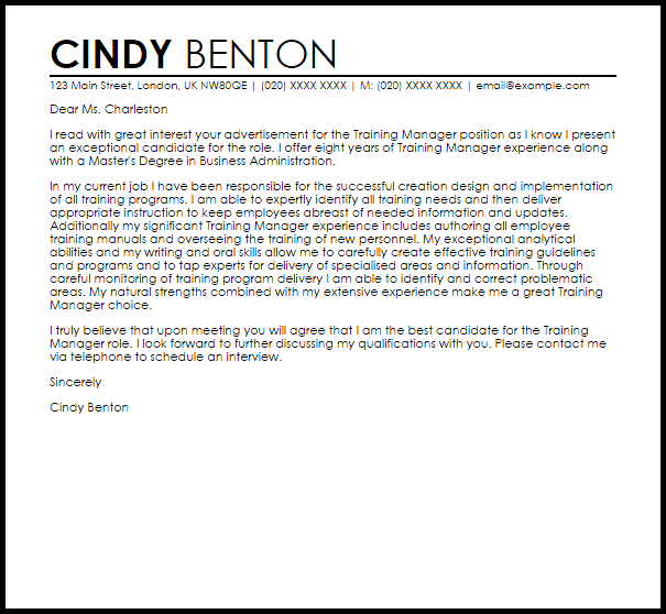 cover letter for instructional coach