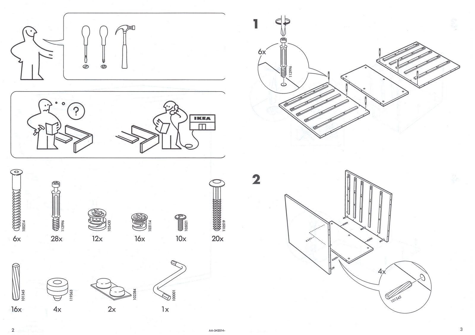 malm bed with attached nightstand instructions